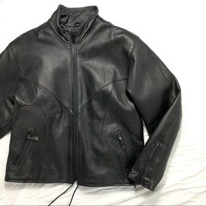 Leather Riding Jacket Size Large